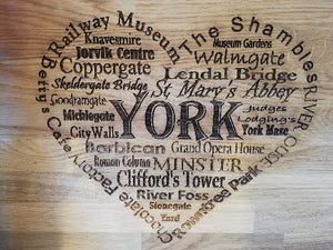 York inspired chopping board