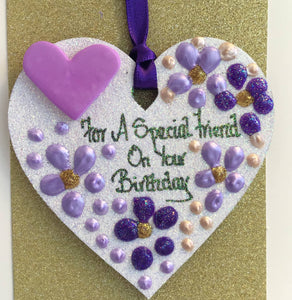 Happy Birthday Friend keepsake heart