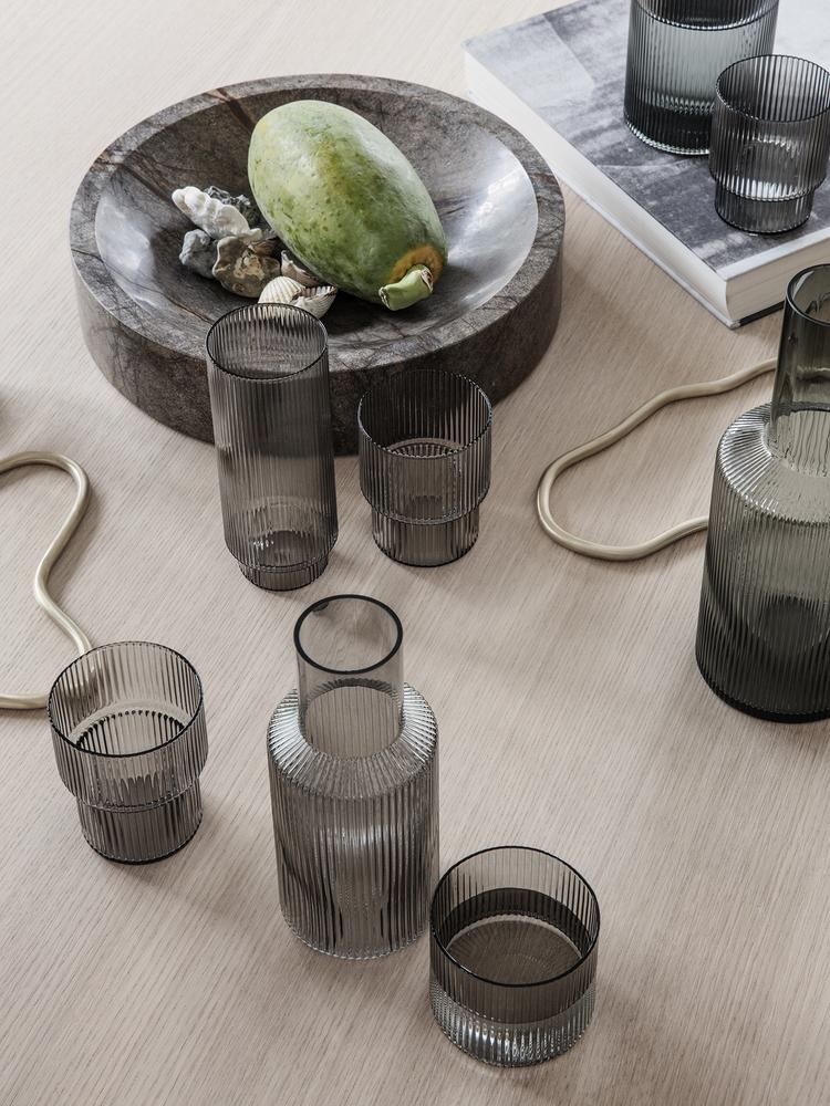 Ripple Carafe Set - Small / Smoked Grey