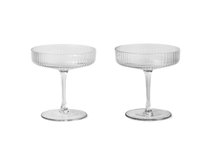 Ripple Champagne Saucers 2er-Set