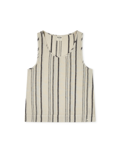 Rosa Tank Top / Beige Striped