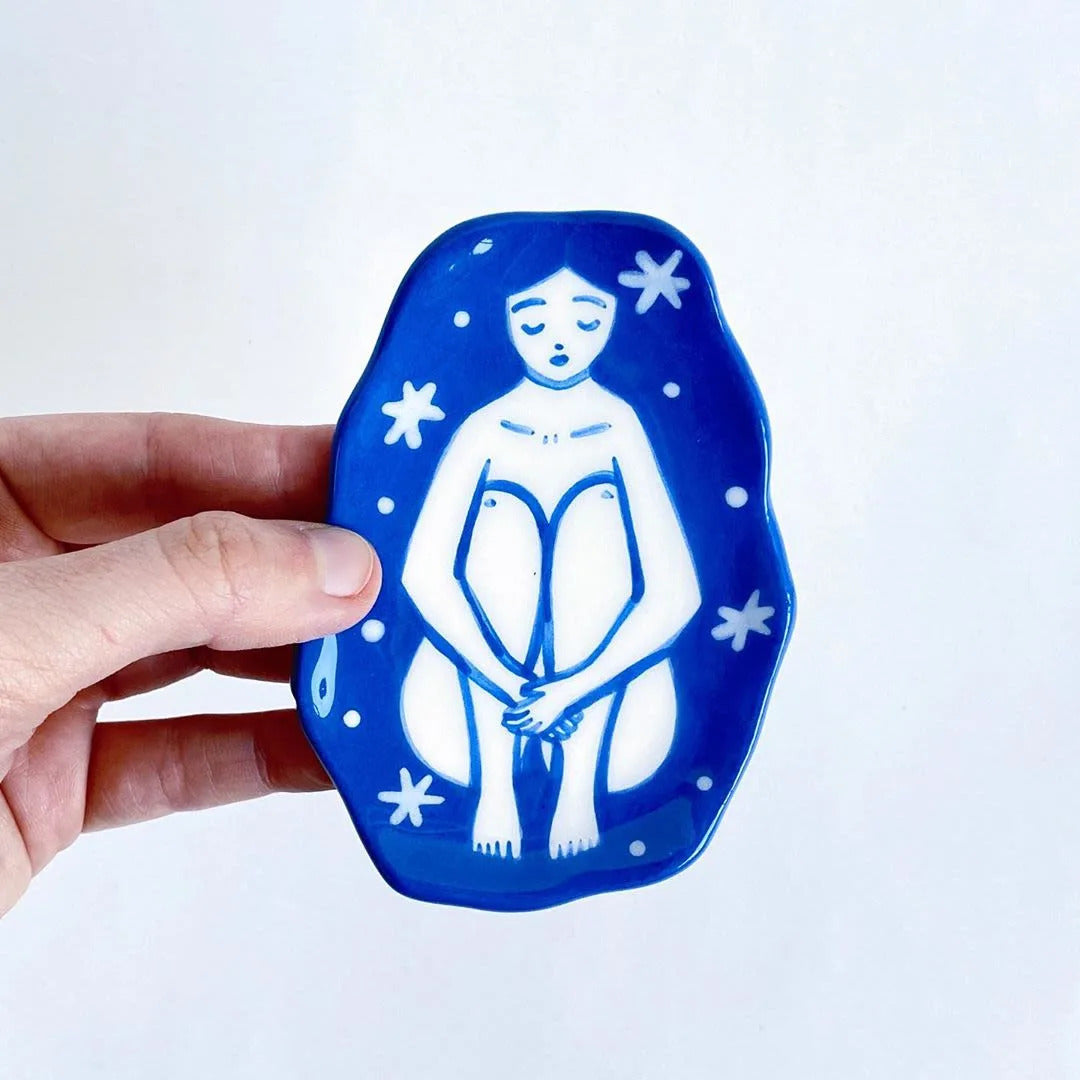 Blue Cosmic Girl Plate