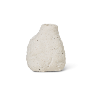 Vulca Mini Vase / Off-White Stone