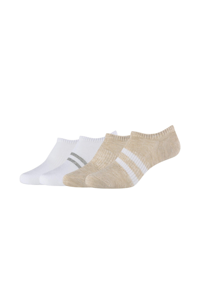 Sneakersocken gerippt 4er Pack