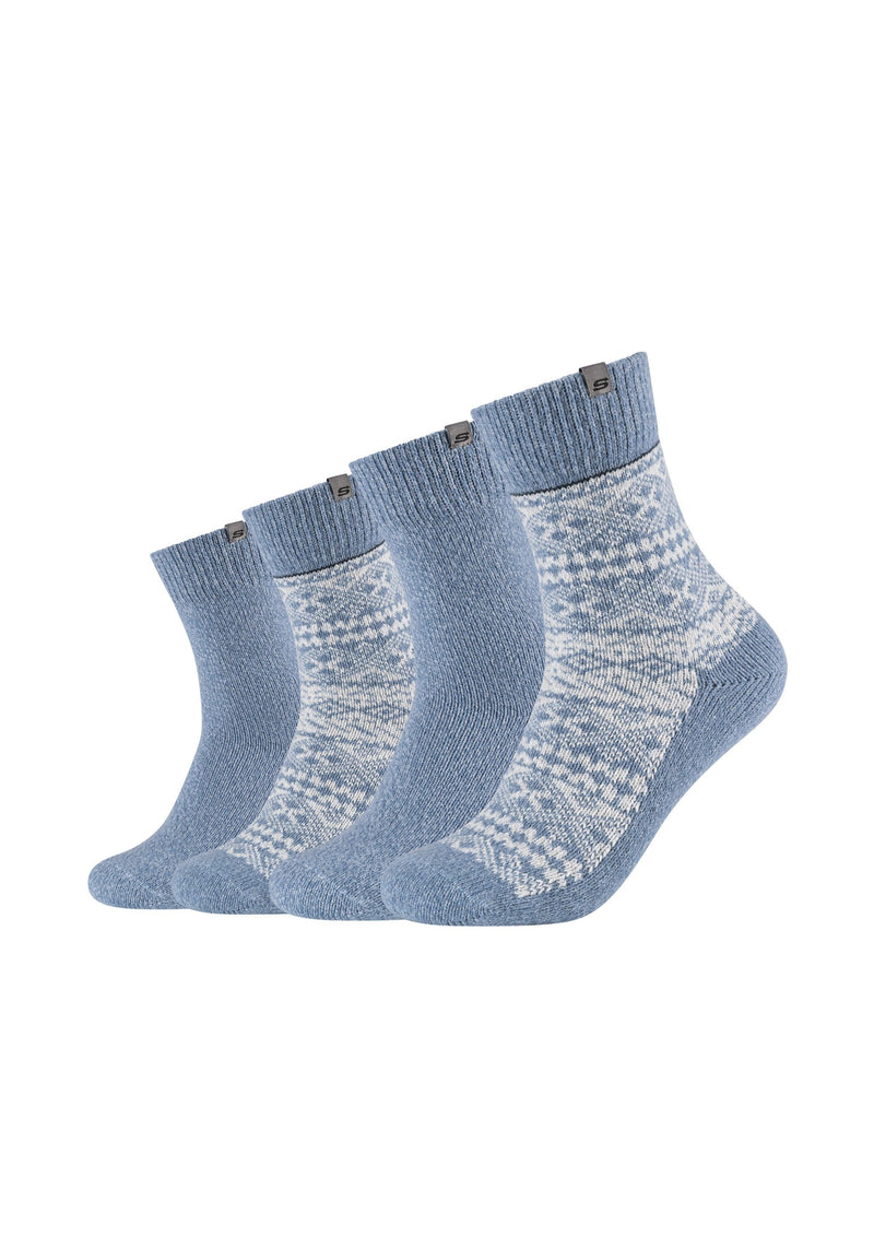 Socken Casual Jacquard-Optik für Herren 4er Pack