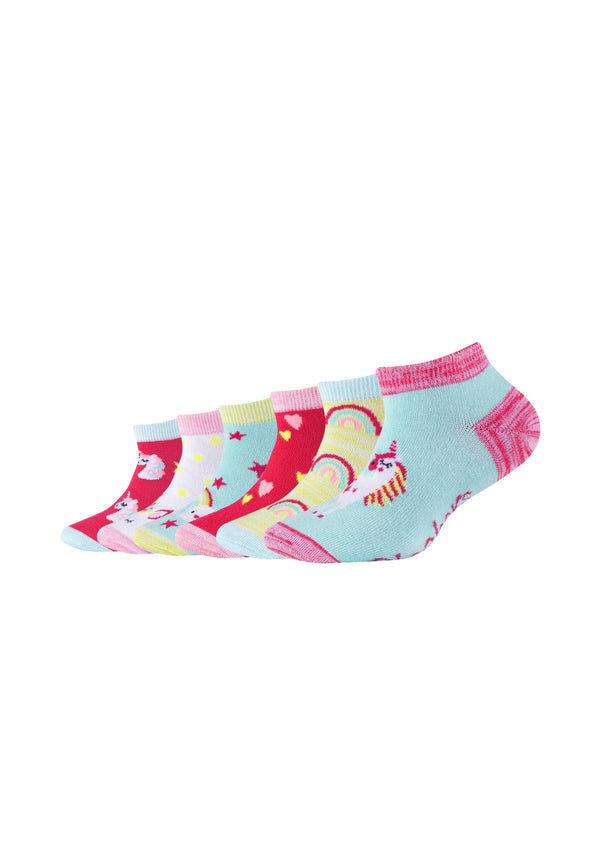 Kinder Sneakersocken Einhorn 6er Pack