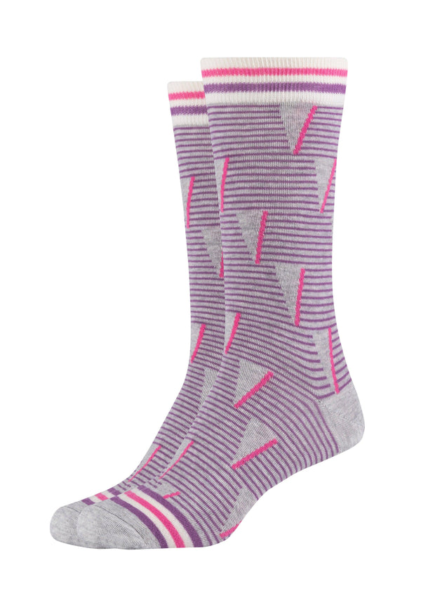 Damen Crew Socks Lilac Graphic 2er Pack