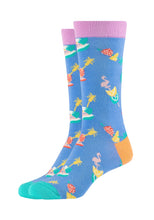 Lade das Bild in den Galerie-Viewer, Damen Crew Socks Summer Flamingo 2er Pack