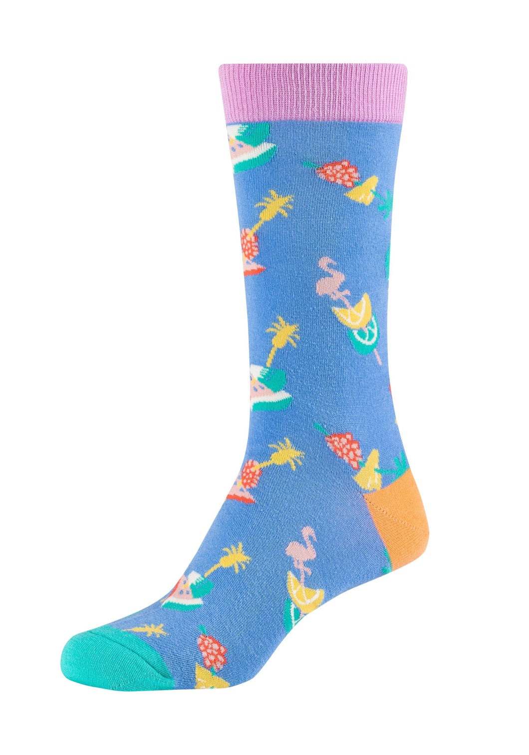 Damen Crew Socks Summer Flamingo 2er Pack