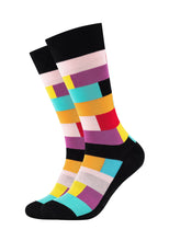 Lade das Bild in den Galerie-Viewer, Herren Crew Socks Colour blocks 2er Pack