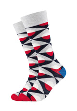 Herren Crew Socks Grey Graphic 2er Pack