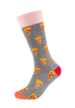 Lade das Bild in den Galerie-Viewer, Herren Crew Socks Funny Pizza 2er Pack