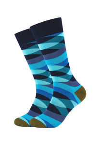 Herren Crew Socks Wave Stripes 2er Pack