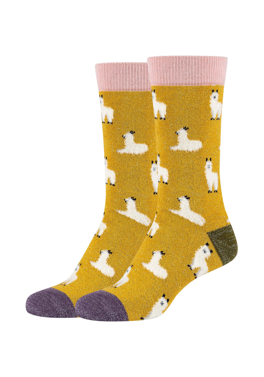 Damen Crew Socks Lama 2er Pack