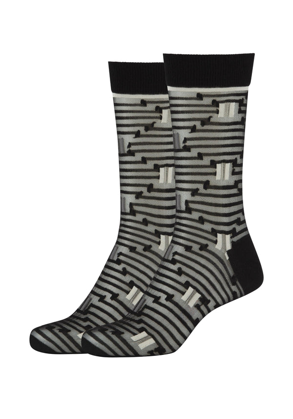 Damen Crew Socks Optic Stripes 2er Pack