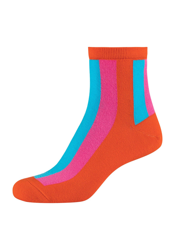 Damen Anklet Socks Block stripes 2er Pack