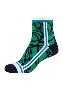 Damen Anklet Socks Green Fun 2er Pack