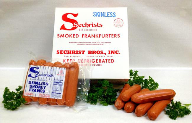 1 lb. Smoked Skinless Hot Dogs