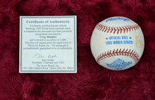 Load image into Gallery viewer, Greg Maddux Autographed Baseball with Certificate of Authenticity