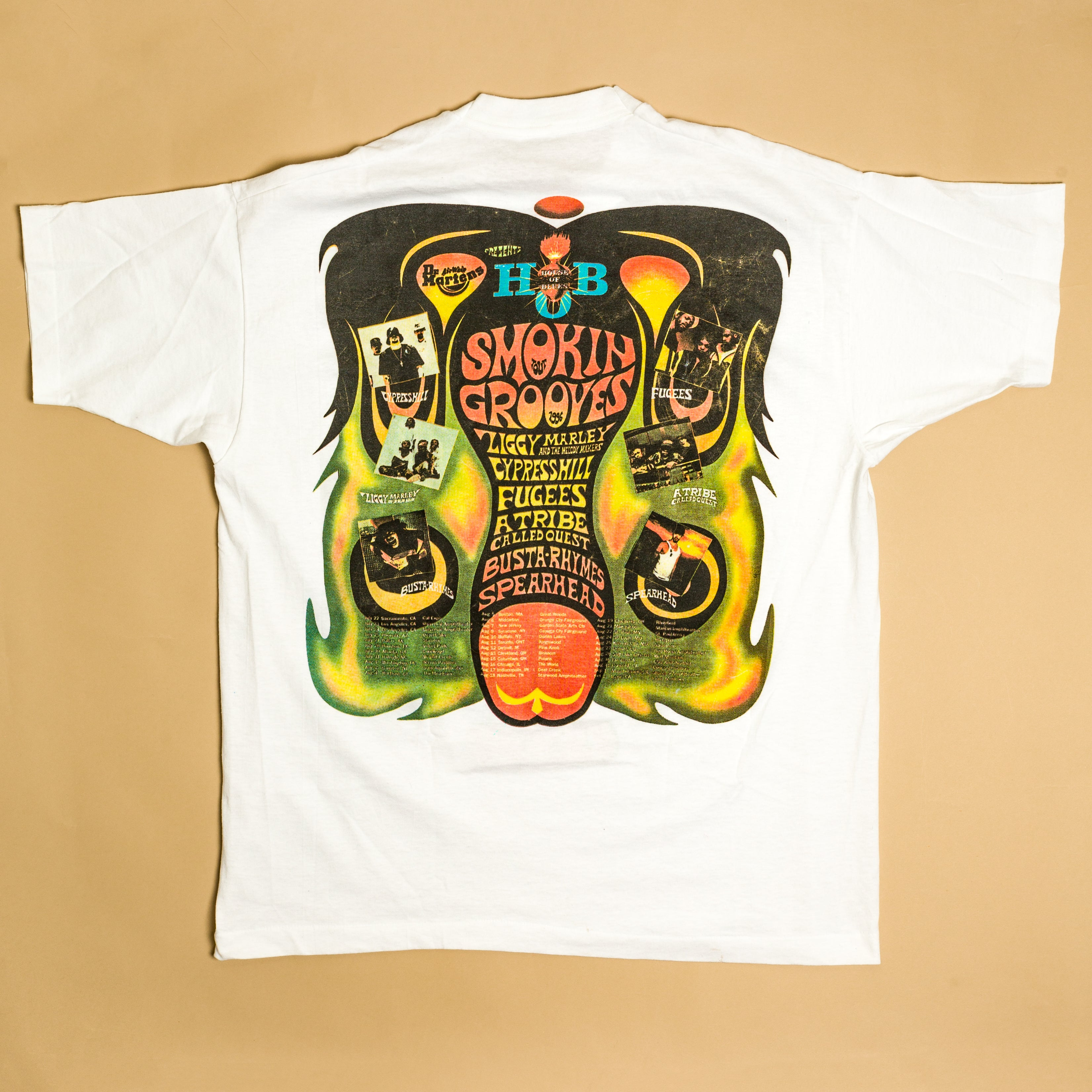 Vintage 1996 Smokin Grooves Tour T-Shirt