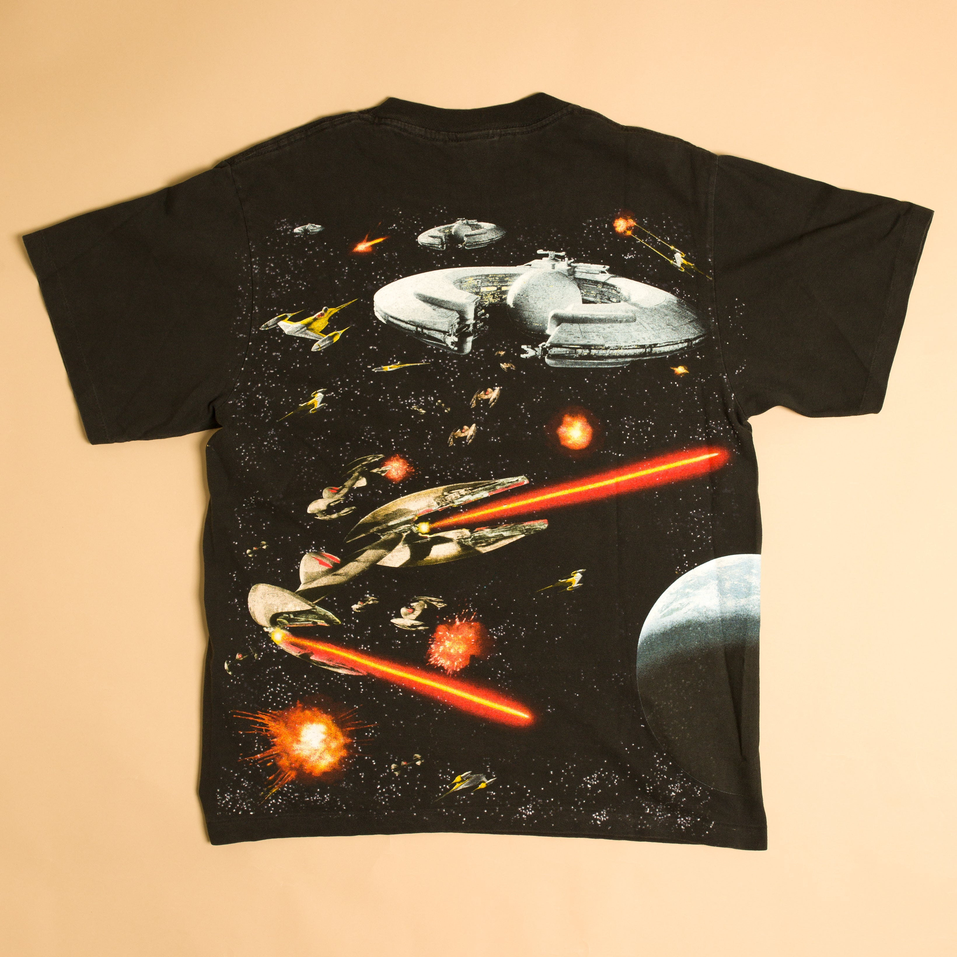 1999 Star Wars Episode 1 All Over Print T-Shirt