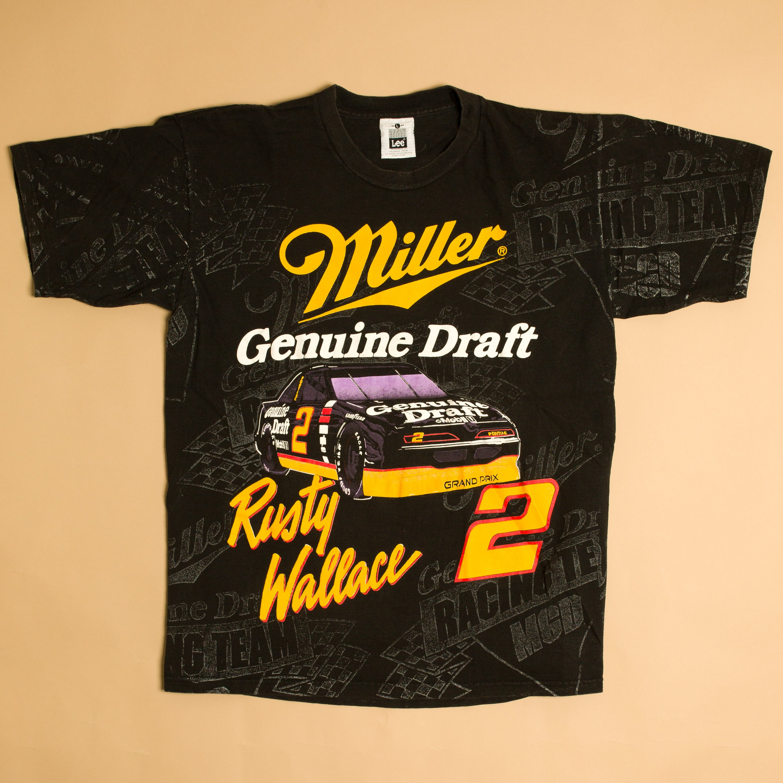 Vintage 90's Rusty Wallace Miller Draft T-Shirt