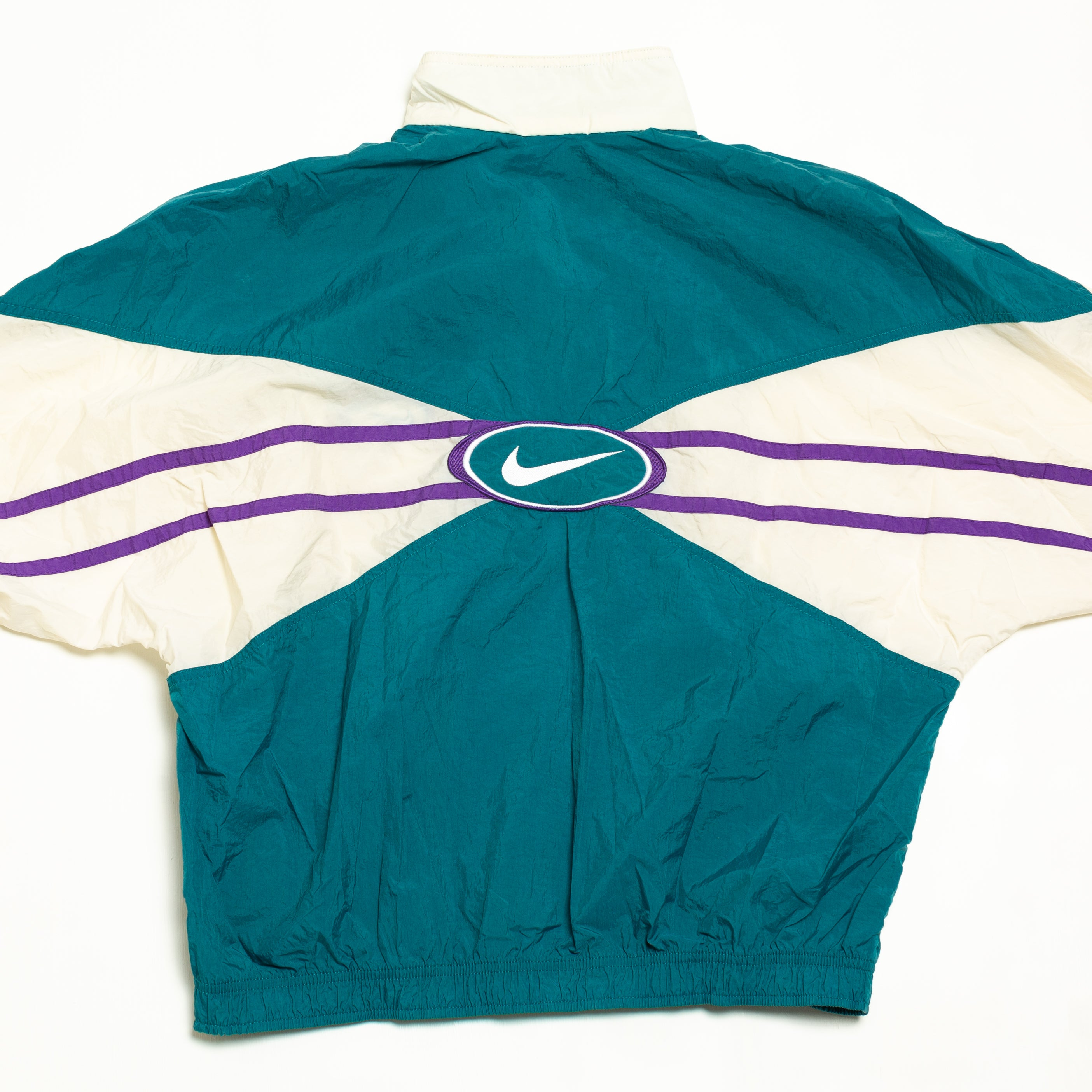 90's Women's Nike Teal & Purple Track Jacket