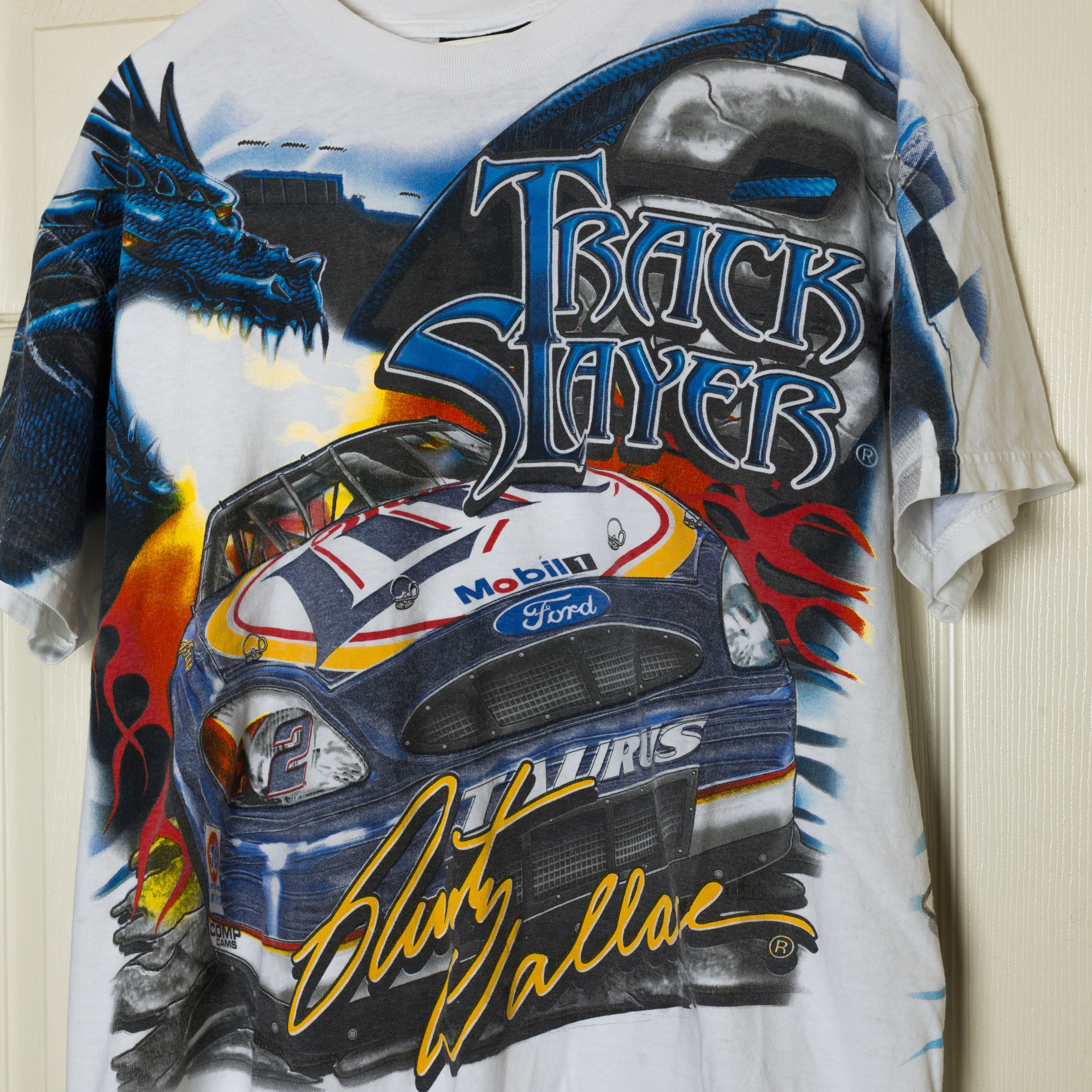 90's Rusty Wallace Nascar All Over Print T-Shirt