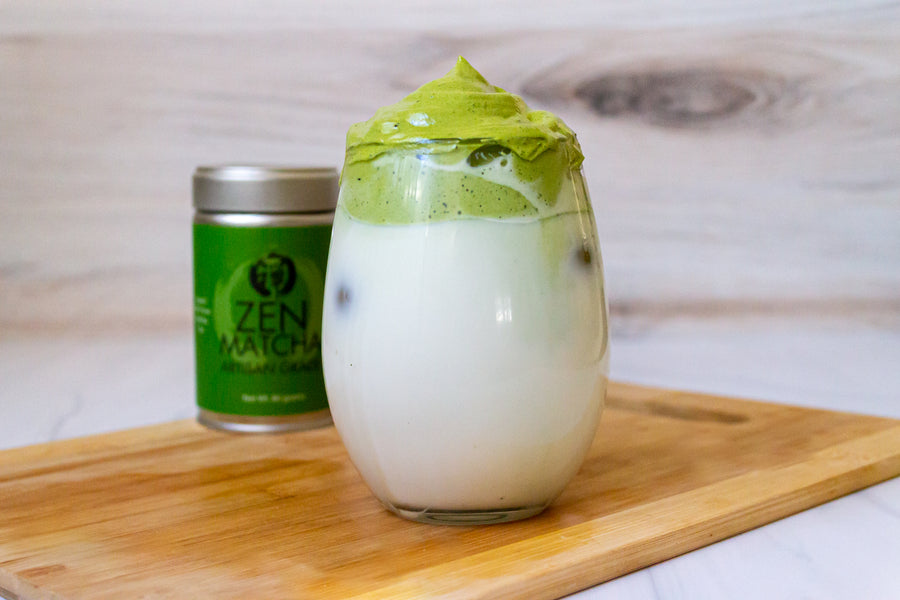 Matcha Dalgona Latte Three Ways with ZenMatcha Tea