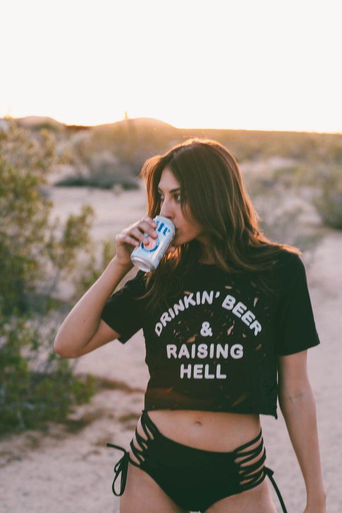 Custom Drinkin' Beer Tee - REBEL SOUL COLLECTIVE FEMINIST GRAPHIC TEES