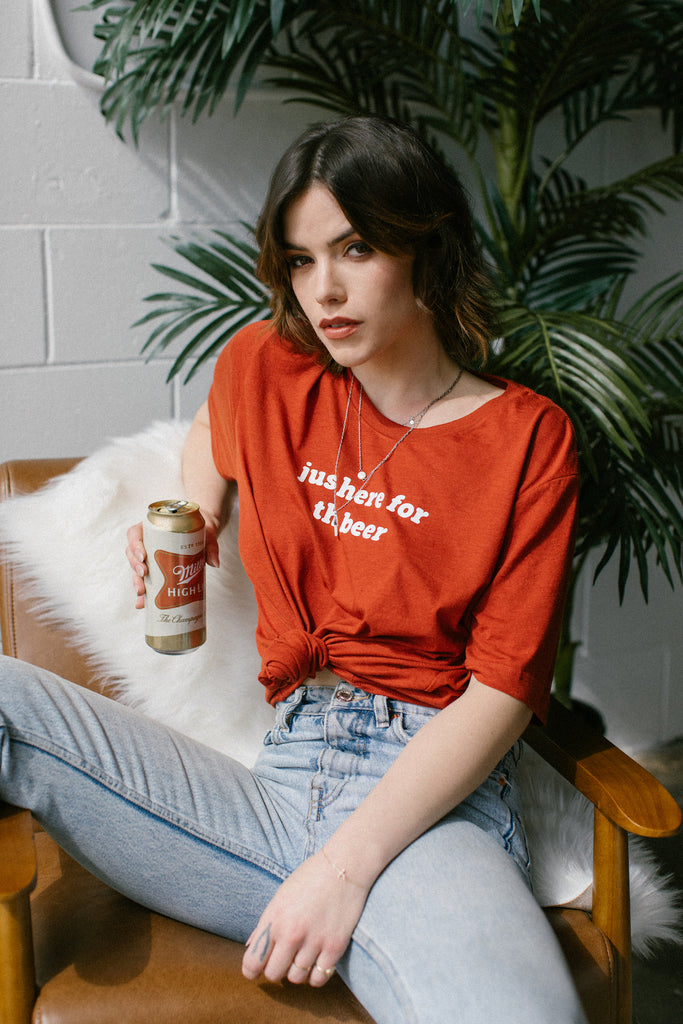 Here for the Beer Tee - REBEL SOUL COLLECTIVE FEMINIST GRAPHIC TEES