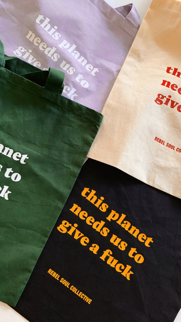 Planet Tote Bag - REBEL SOUL COLLECTIVE FEMINIST GRAPHIC TEES