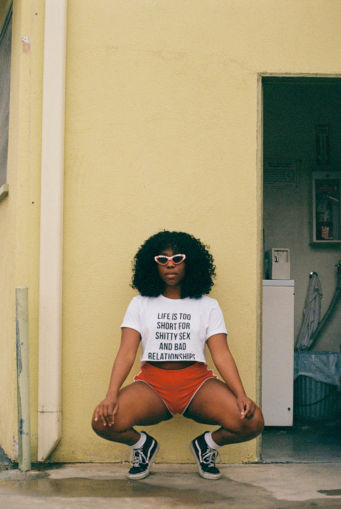 Life Is Short Tee - REBEL SOUL COLLECTIVE FEMINIST GRAPHIC TEES
