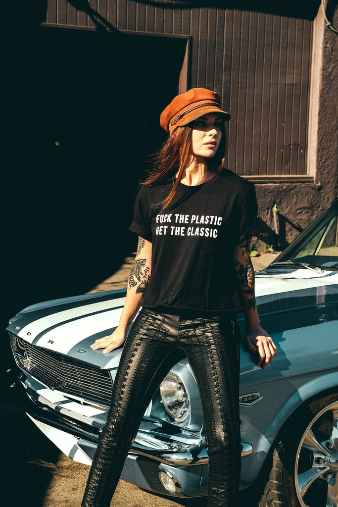 Fuck The Plastic Tee - REBEL SOUL COLLECTIVE FEMINIST GRAPHIC TEES