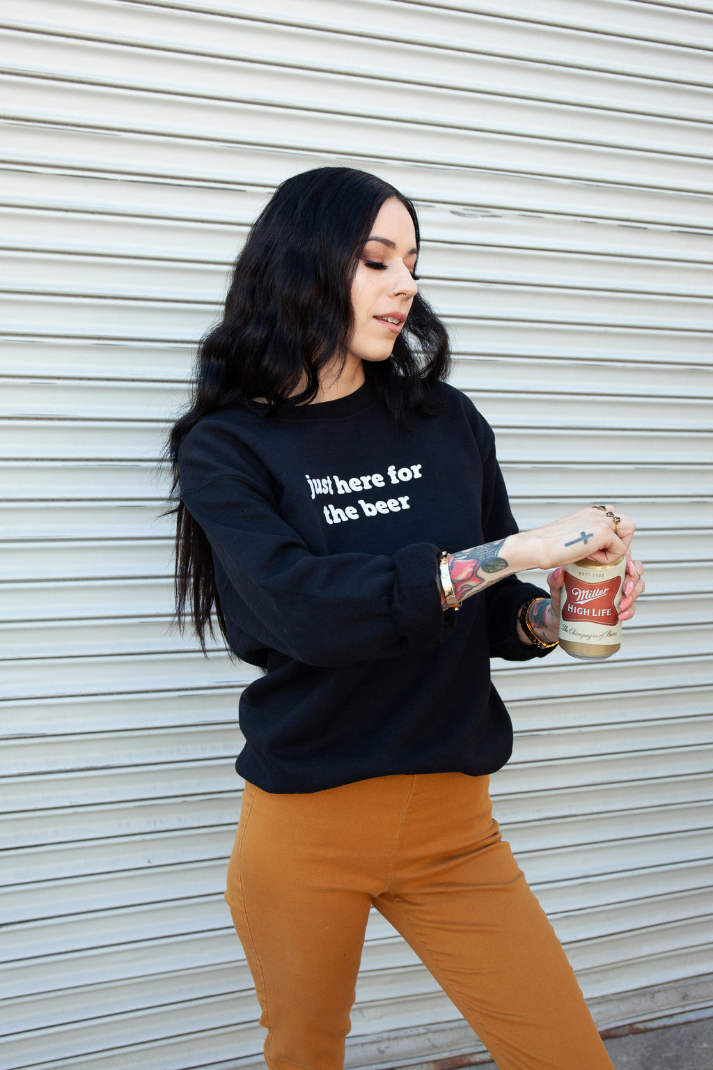 Here For The Beer Pullover - REBEL SOUL COLLECTIVE FEMINIST GRAPHIC TEES