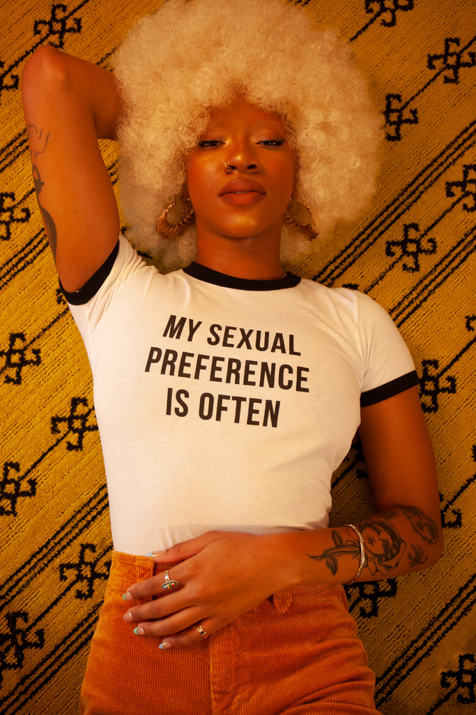Sexual Preference Ringer - REBEL SOUL COLLECTIVE FEMINIST GRAPHIC TEES