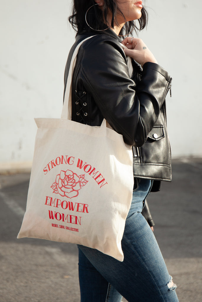 Empower Tote Bag - REBEL SOUL COLLECTIVE FEMINIST GRAPHIC TEES