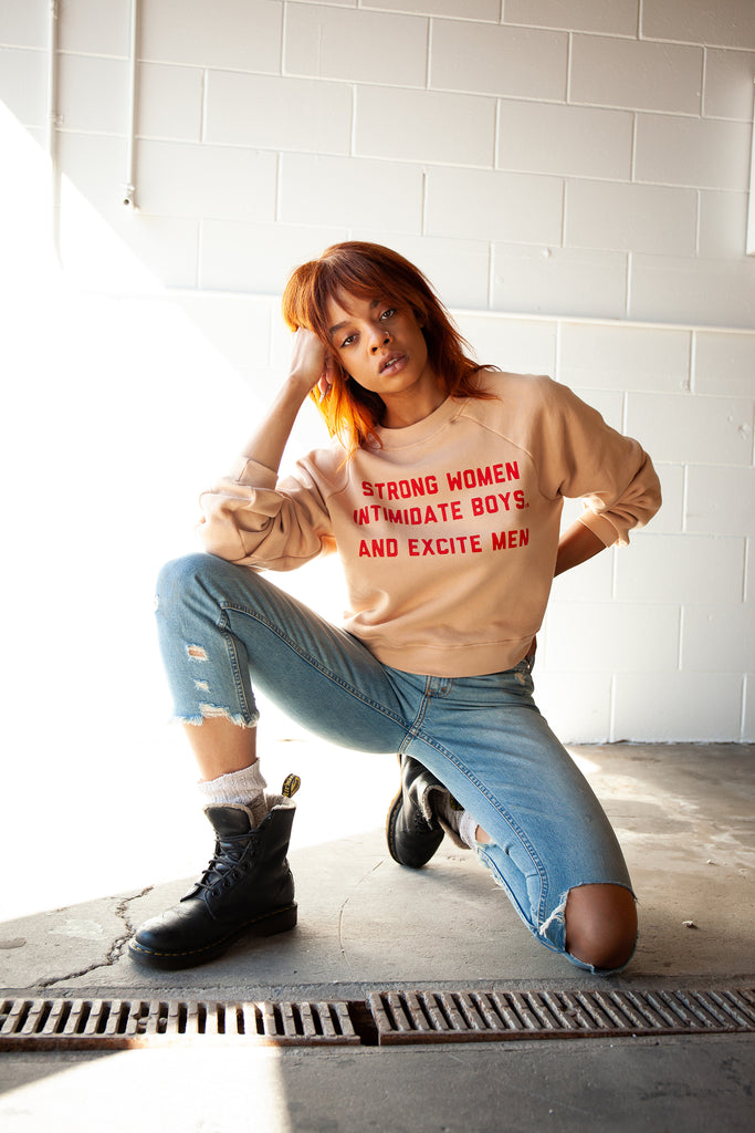 Strong Women Intimidate Pullover - REBEL SOUL COLLECTIVE FEMINIST GRAPHIC TEES