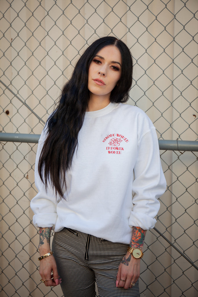 Strong Women Empower Pullover - REBEL SOUL COLLECTIVE
