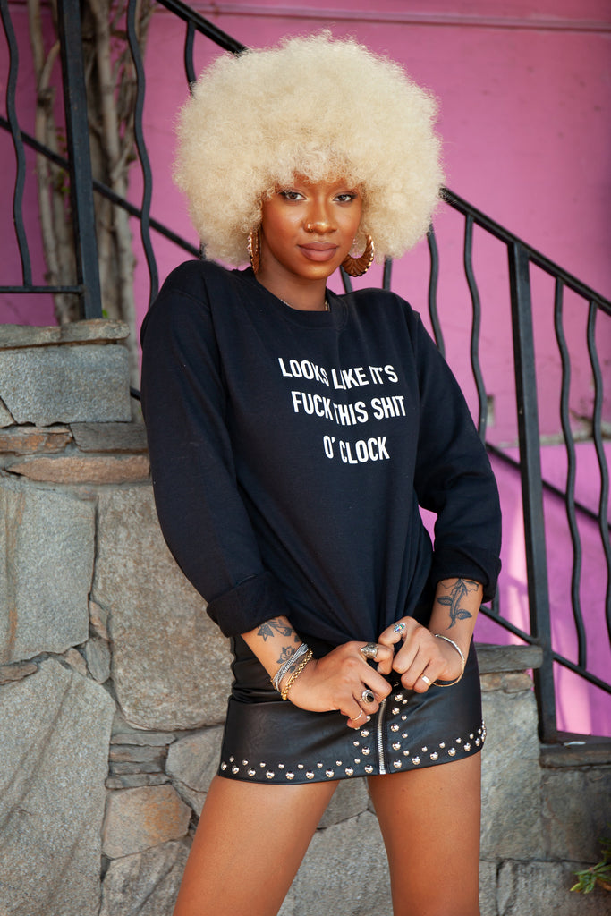 O' Clock Pullover - REBEL SOUL COLLECTIVE FEMINIST GRAPHIC TEES