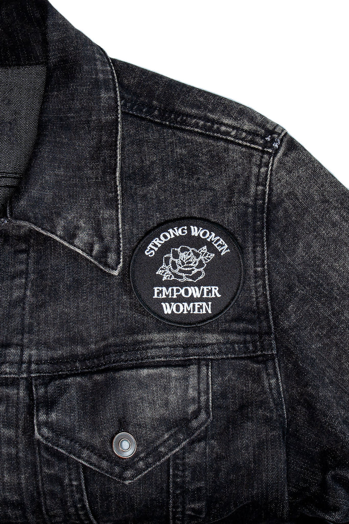 Strong Women Empower Rose Patch - REBEL SOUL COLLECTIVE