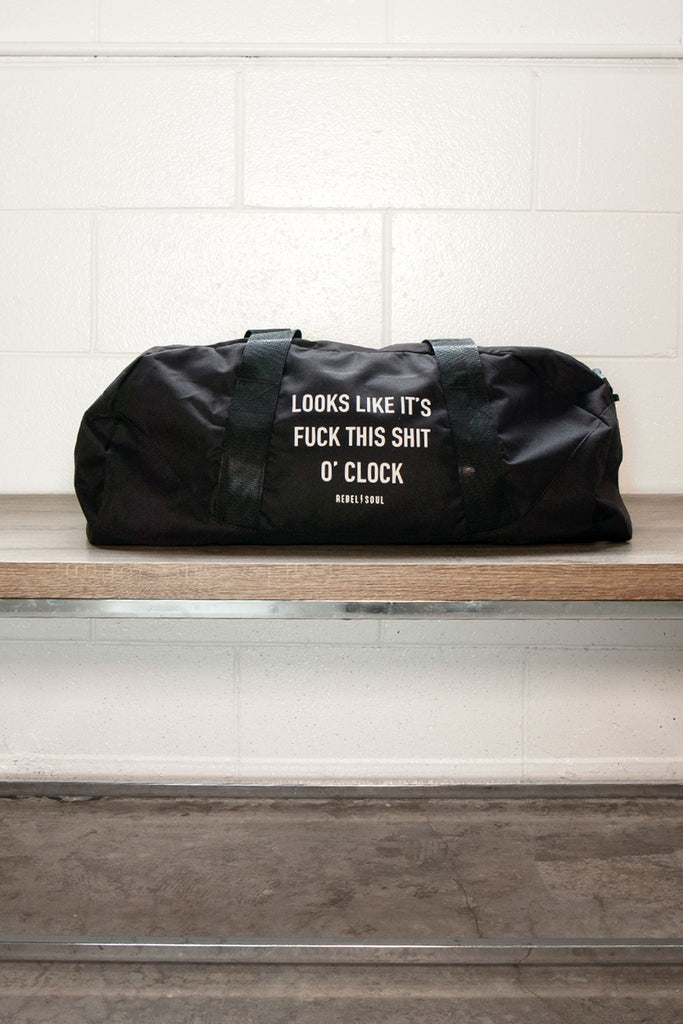 O'Clock Black Duffle Bag - REBEL SOUL COLLECTIVE