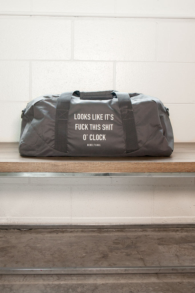 O'Clock Grey Duffle Bag