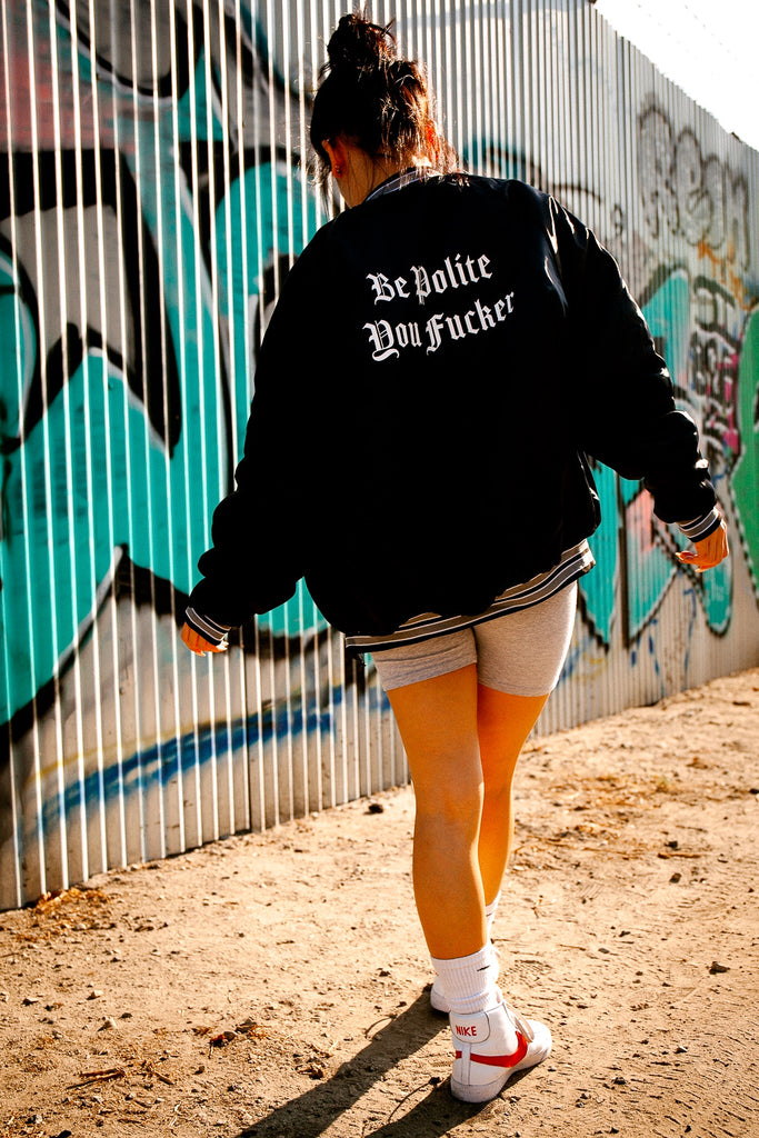 Be Polite Satin Jacket