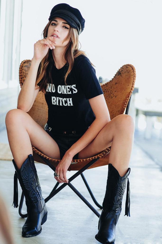 No Ones Bitch Tee - REBEL SOUL COLLECTIVE FEMINIST GRAPHIC TEES
