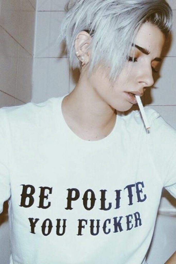 Be Polite Tee - REBEL SOUL COLLECTIVE FEMINIST GRAPHIC TEES