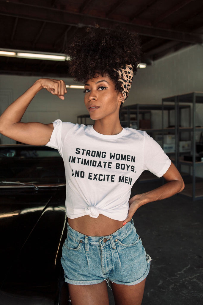 Strong Women Intimidate Tee - REBEL SOUL COLLECTIVE FEMINIST GRAPHIC TEES