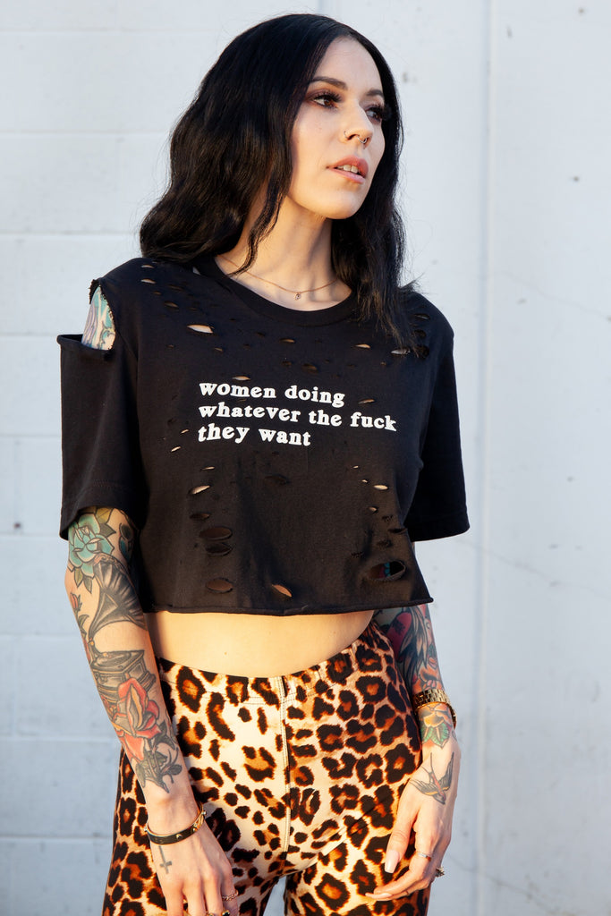 Custom Women Doing What They Want Tee - REBEL SOUL COLLECTIVE