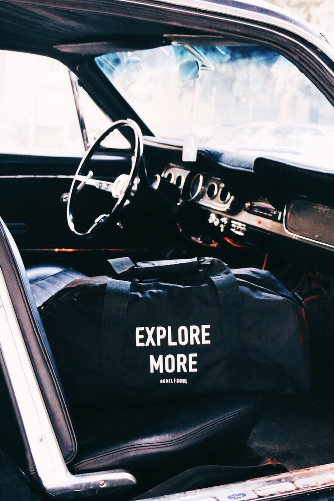 Explore More Duffle Bag - REBEL SOUL COLLECTIVE FEMINIST GRAPHIC TEES