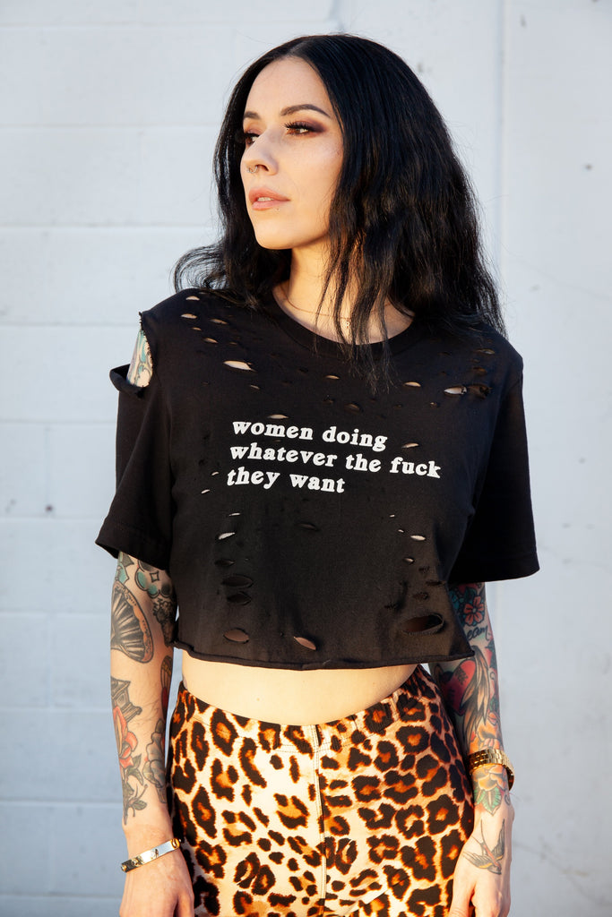 Custom Women Doing What They Want Tee - REBEL SOUL COLLECTIVE FEMINIST GRAPHIC TEES